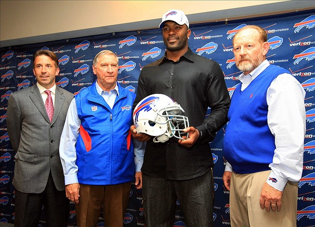 Image result for buffalo bills press conference mario williams