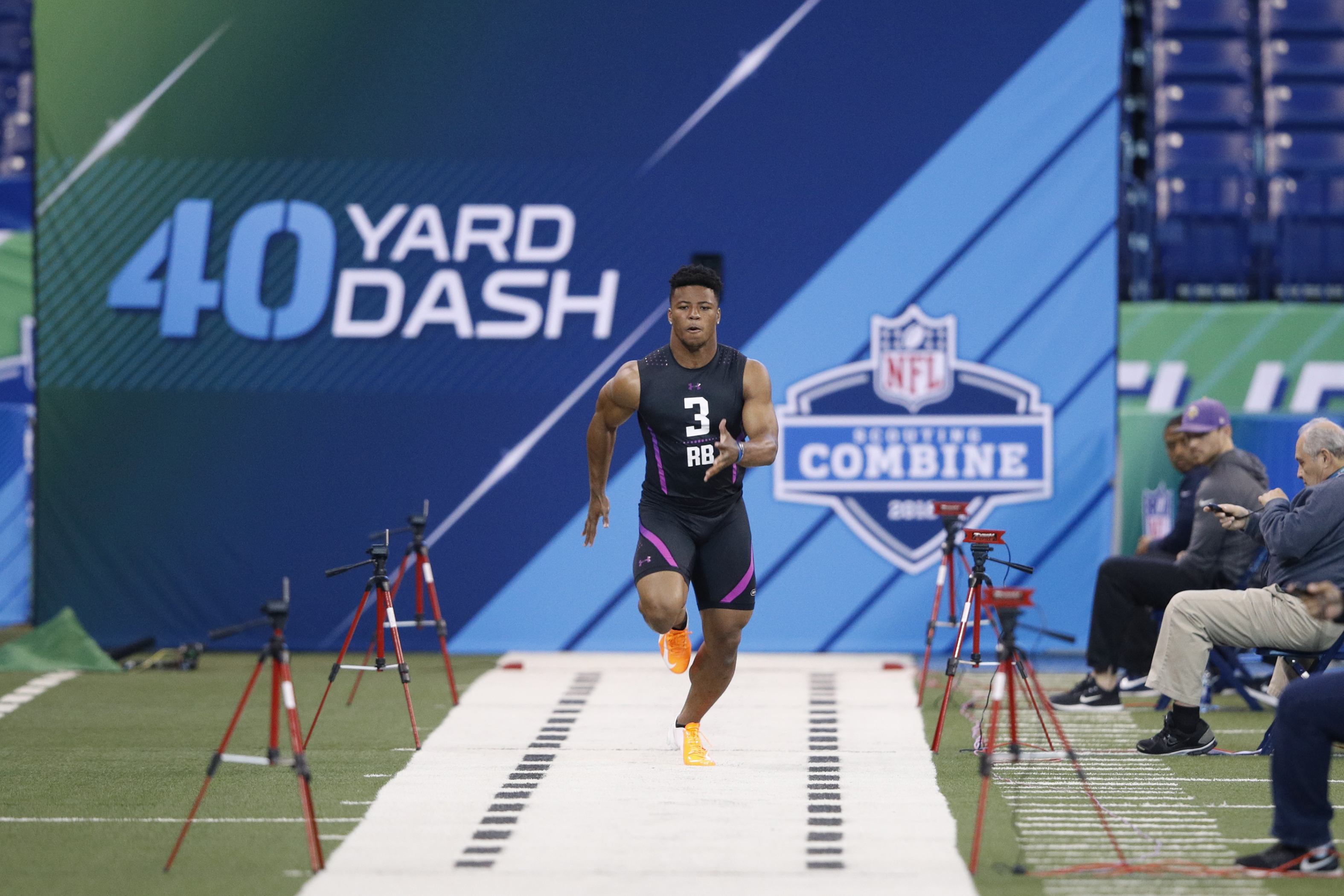 Colts have met with RB Saquon Barkley at NFL Combine
